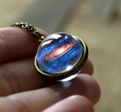 Outer Space Double Glass Necklace