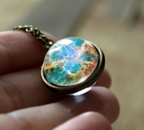 Earth Double Glass Necklace
