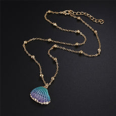 Blueish dark Shell Necklace