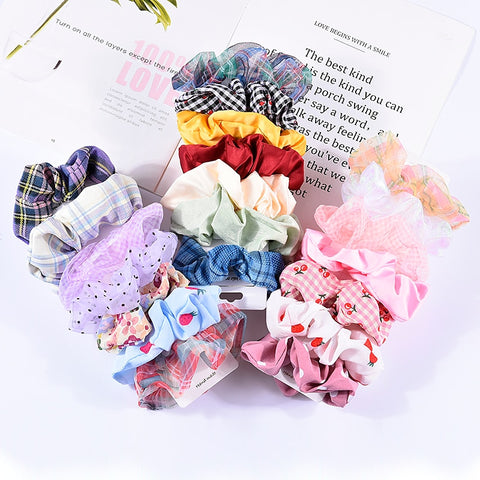 4 pieces Scrunchies Mix #7