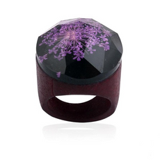 """The Purple Flower"" Ring"