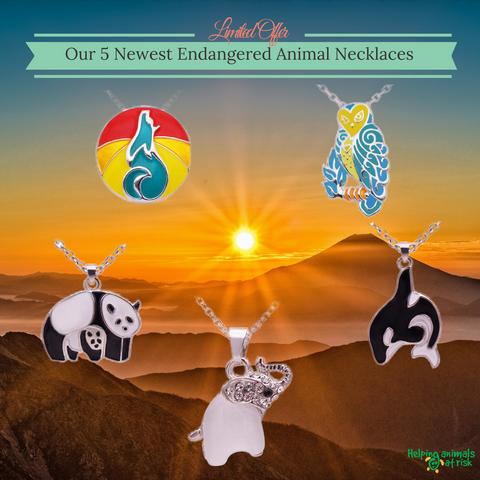 Wholesale 5 Endangered Animals Necklace Pack