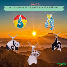 5 Endangered Animals Necklace Pack