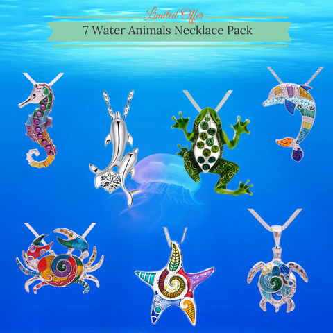 7 Water Animal Necklace Pack