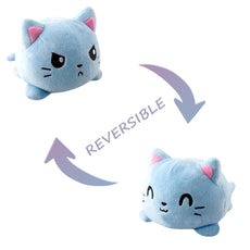 Reversible Cat Plush (blue double sided cat plush)