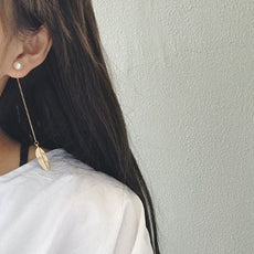 Free Leaf Long Earrings