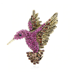 Free PinkFlying Bird Brooch