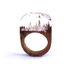 """The White Word"" Ring"