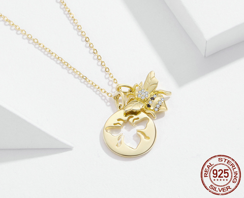 Bee Double Necklace