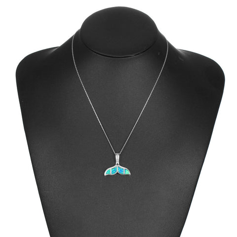 Free Opal Whale Tail Necklace