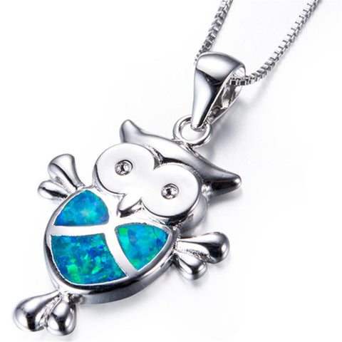 Free Opal Owl Necklace