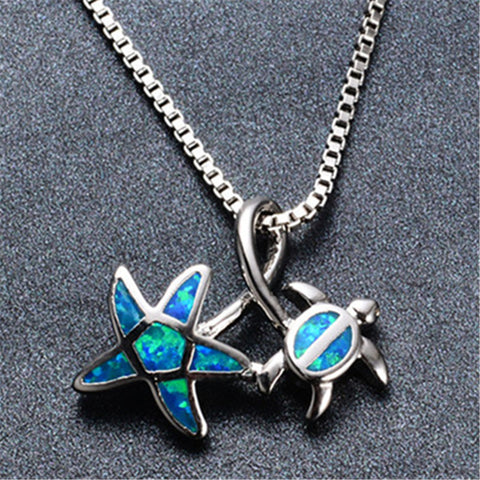 Free Starfish and Turtle Necklace