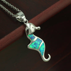 Free Opal Seahorse Necklace