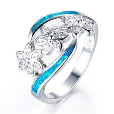 Free Opal Blossoms Flower Ring