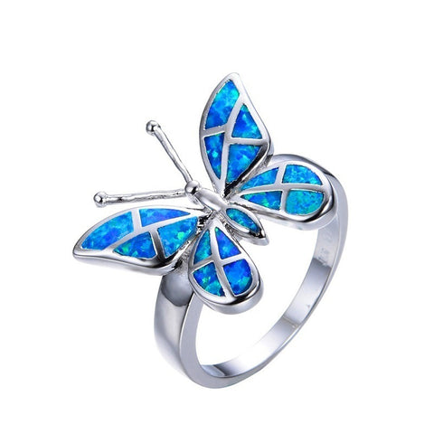 Free Flying Butterfly Ring