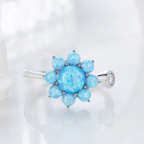Free Opal Sunflower Ring