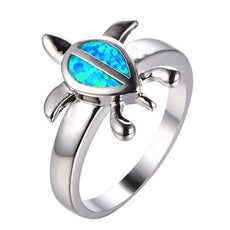 Free Opal Leatherback Turtle Ring