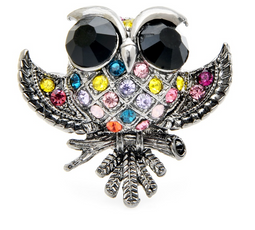 Free Multicolor Little Owl Brooch