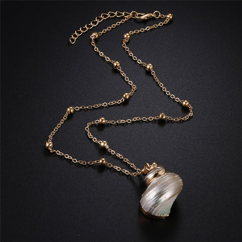 New Gold Snail Necklace