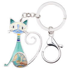 Multicolor Frisky Cat Keychain