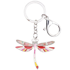 Multicolor Dragonfly Keychain