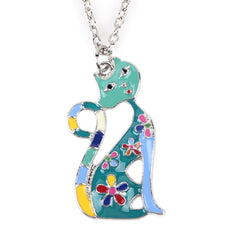 Sphynx Cat Enamel Necklace