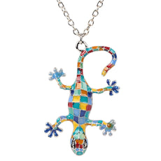 Gecko Enamel Necklace