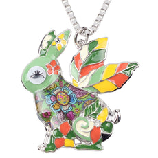 Multicolor Rabbit Necklace