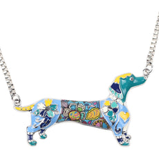 Dachshund Enamel Necklace