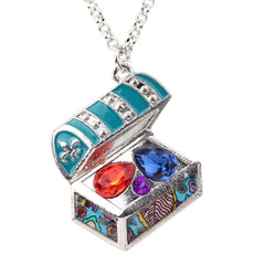 Multicolor Treasure Chest Necklace