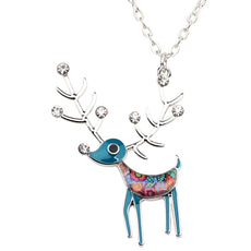 Multicolor Reindeer Necklace