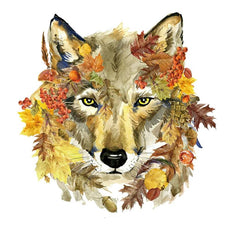 Free Watching Wolf Sticker for Clothes