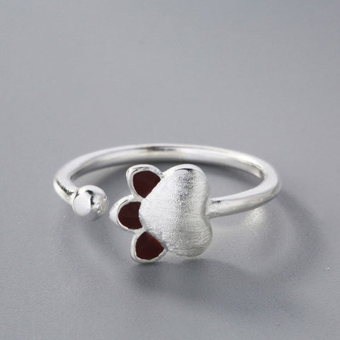 Heart Paw Adjustable Ring