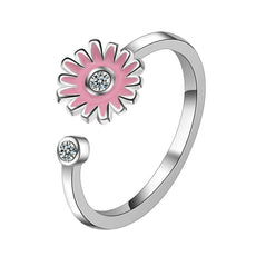 Small Flower Adjustable Ring