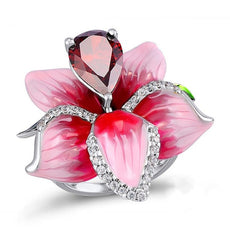 Free Flower Crystal Ring