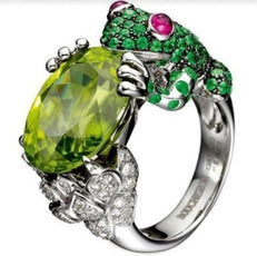 Free Frog Crystal Ring