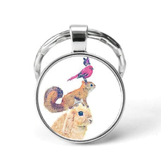 Animal Friendships Keychain