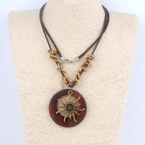 Wood Sunshine Necklace