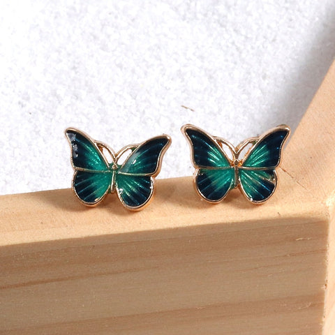 Free Blue  Butterfy Earrings