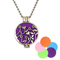 Blooming Flower Necklace Aromatherapy Locket