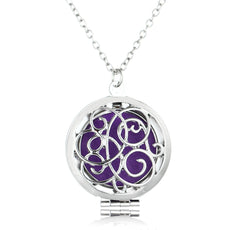 Freehand Heart Necklace Aromatherapy Locket