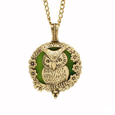 Owl Necklace Aromatherapy Locket
