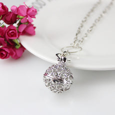 Heart Ball Necklace Aromatherapy Locket