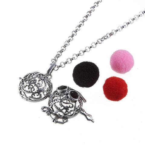 Black Eyes Owl Necklace Aromatherapy Locket