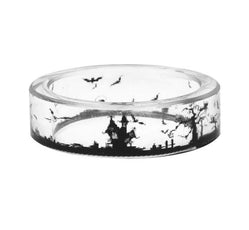 Bats Clear Resin Ring