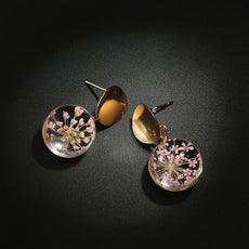 Free Dried Flower Earrings