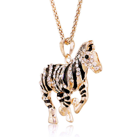 Crystal Zebra Necklace