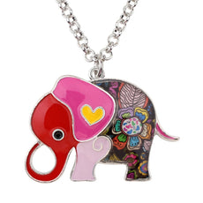 Multicolor Baby Elephant Necklace