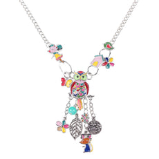 Mouse, Bird and Owl Necklace