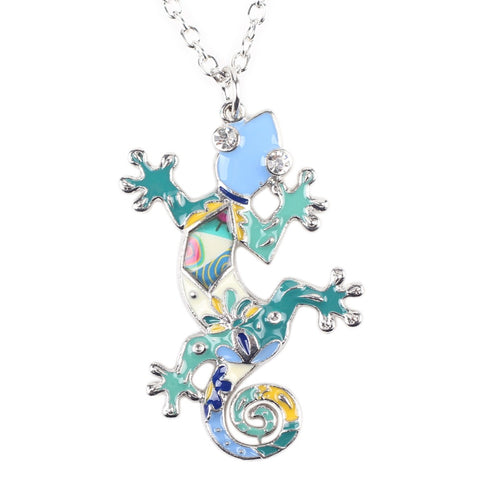 Multicolor Gecko Necklace